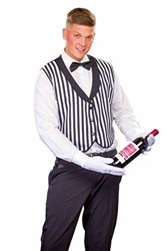 Kellner Kostüm - Panelize Butler Butlerweste Kellner Kellnerweste + Fliege + Handschuhe Ober Oberkellner (54)