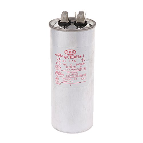 MagiDeal Cbb65 Ac 450v 50 / 60hz Start Motor Kondensator Klimaanlage Kompressor - 55VF (60 Hz-motor)