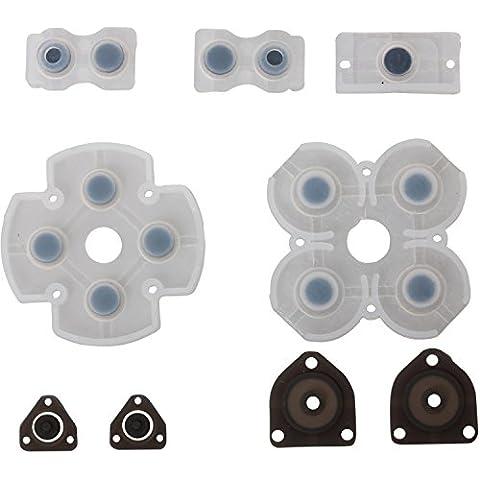 Timorn Piezas de repuestofijó todo de Key Control de botón de almohadilla conductora Botones Kit para Playstation 4 PS4 (5 Set)
