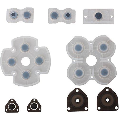 eJiasu Todo Conjunto De goma Kit de reemplazo del botón Pad para conductiva Sony Playstation 4 PS4 Controlador Gamepad (1 set)