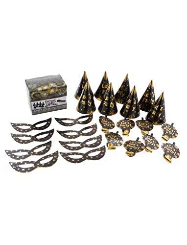 Silvester Kostüm - Karneval-Klamotten Silvester Neujahr Party Box Hüte Masken Tröten