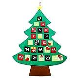 The Twiddlers Calendario dell'Avvento (Calendar avvento) a Forma di Albero Natalizio in Feltro Tessuto - Perfetto per Kinder Il Conto alla rovescia per Il Giorno di Natale