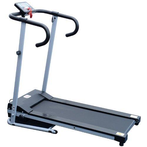 Homcom Laufband Elektrisches Fitnessgerät Klappbarer Heimtrainer mit LCD-Display 150 kg Belastung 500 W, schwarz-silbergrau, B1-0097