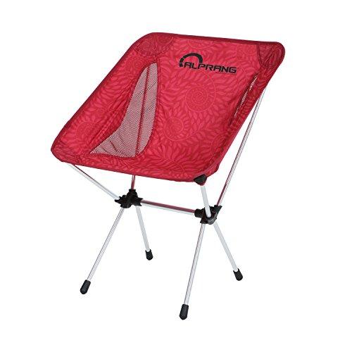 Klappbarer Campingstuhl mit Tragetasche – kompakter, ultraleichter faltbarer Strandstuhl – Tragbarer hoch belastbarer Outdoor Stuhl für Rucksackreisen, Wandern, Camping, Strand, Angeln