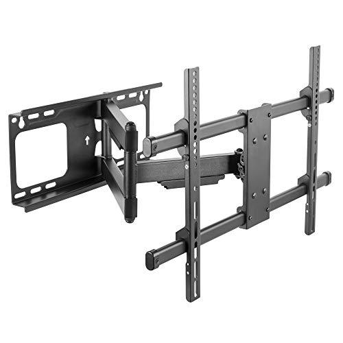 RICOO TV Wandhalterung S4764 für ca.37-65 Zoll (ca. 94-165cm) Schwenkbar Neigbar Fernseh Halterung Universal Aufhängung auch für Curved LCD Fernseher Wand Halter | VESA 300x200 600x400 Schwarz