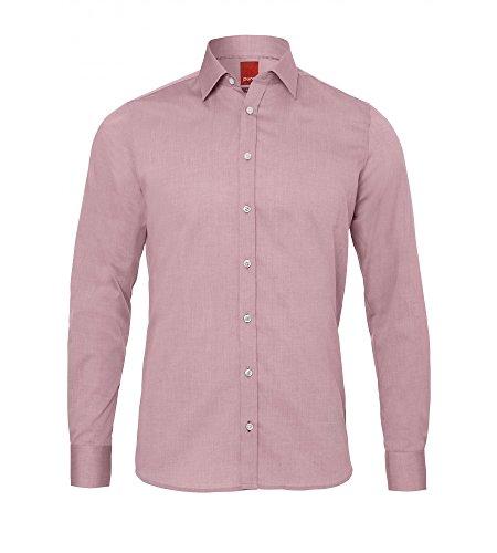 Michaelax-Fashion-Trade -  Camicia classiche  - Basic - Con bottoni  - Maniche lunghe  - Uomo Rot (37)