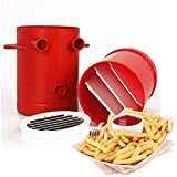 [Sponsored]Kriva Kitchen Tools & Gadgets Kitchen Slicing Tool - 2 In 1 Copper Fries Potatoes Slicers French Fries Fries Cutter Machine & Container No Deep-Fry Vegetable Cutter - 1 X Potatoes Maker Slicer - 1pc