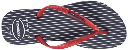 Havaianas Damen Slim Retro Zehentrenner Mehrfarbig (Navy/Red 0463)