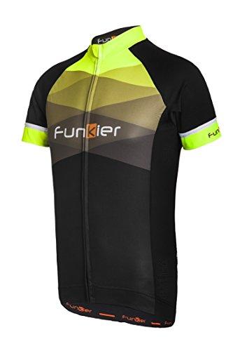 Herren-Fahrradtrikot Rideline Active von Funkier mit kurzen Ärmeln XL schwarz / gelb (Riding Shirt Sleeve Jersey)