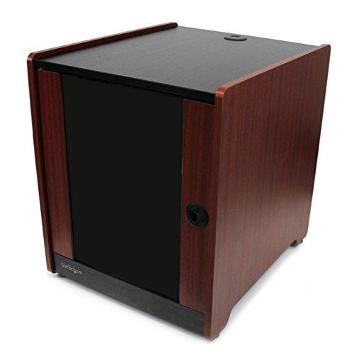 StarTech.com 12HE Office Serverschrank mit Holzdekor und Rollen (Server Rack Gehäuse bis max. 136 Kg belastbar) -