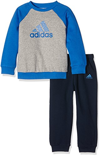 adidas I SP LOG JOGGER -  Ensemble - Kinder, Blau / Grau, 62