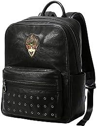 Circlefly Cuero bandolera personalidad moda tendencia bolso cuero de hombres mochila juvenil