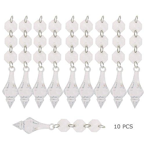 Mikolot 100Acryl Kristall Perlen Girlande Kronleuchter Aufhängen Hochzeit Party Decor