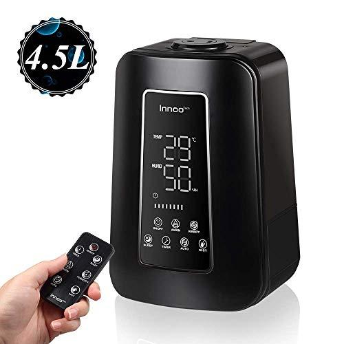 Innoo Tech Humidificateur bébé d'air Maison avec la Télécommande, 4.5L Humidificateur Intelligent de Chambre bébé, Mode d'économie d'énergie Nocturne, Ions négatifs, Filtre intégré