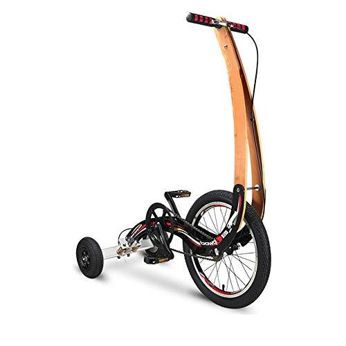 YUSDP Mini Stand Riding Heimtrainer - ohne Sitz, Frontrahmen aus massivem Holz - Rahmen aus hochfestem Aluminium, tragbares Klappgestell - für Fitness oder Unterhaltung, 18 Zoll