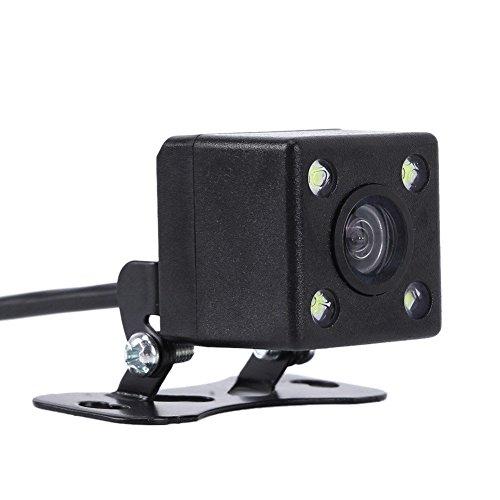 Jamicy® Auto Einparkhilfe Autoparksysteme Rückfahrkamera-Set, 170° Weitwinkel wasserdichte Rückfahrkamera mit 4-LED, IPX6 wasserdicht, Nachtsicht, CCD-Unterputz Rückfahrkamera