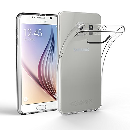 EasyAcc Coque pour Samsung Galaxy S6, Crystal Clear Premium TPU Transparent Antidérapant Case Compatible avec Samsung Galaxy S6 Protection Dorsale Etui Slim Invisible Housse Cover