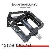 LYLIN Fahrradpedale, Bike Pedale mit Achsendurchmesser 9/16 Zoll Ultraleicht aus Nylonharz für Universell (Schwarz)