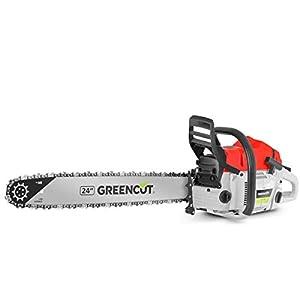 Greencut GS7500 24 – Motosierra de gasolina, 75cc – 4,8cv, espada de 24″