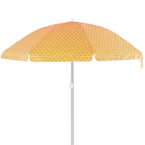 Sombrilla de Playa Parasol de Aluminio Naranja de 240 cm Garden - LOLAhome