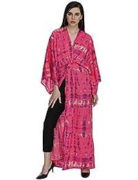 Pink Tie N Die Kaftan Style Maxi Shrug