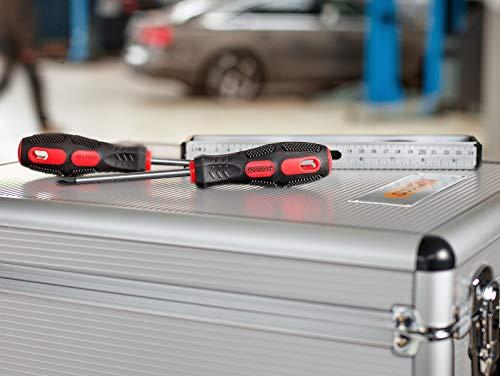 Monzana® Werkzeugkoffer gefüllt 729tlg ✔ abschließbar ✔ Aluminium Rollkoffer ✔ inkl. vielseitigem Zubehör & Arbeitshandschuhen ✔ Modellauswahl – Werkzeugkasten Werkzeugkiste Werkzeug Trolley bestückt - 9