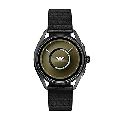 Emporio Armani Mens Smartwatch with Leather Strap ART5009