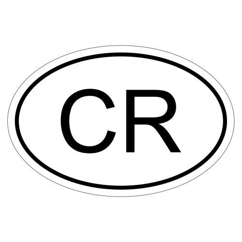 Costa Rica CR 10 x 6,6cm Autoaufkleber Sticker Aufkleber KFZ Flagge -