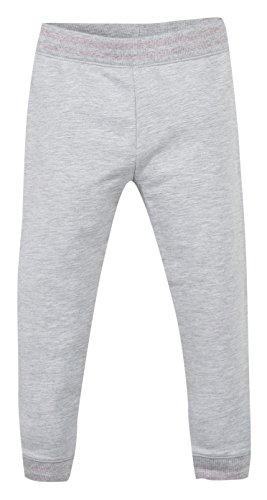 Grain de Blé Jogging Molleton Gris, Pantalon Bébé Fille, Gris (Gris Clair Chiné), 3 Ans (Taille Fabricant: 36M)