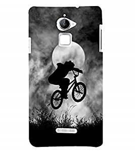 Nextgen Designer Mobile Skin for Coolpad Note 3 Lite :: Coolpad Note 3 Lite Dual SIM (full Moon Cloudy Sky Cycle Jumping Cycle Full moon Day)