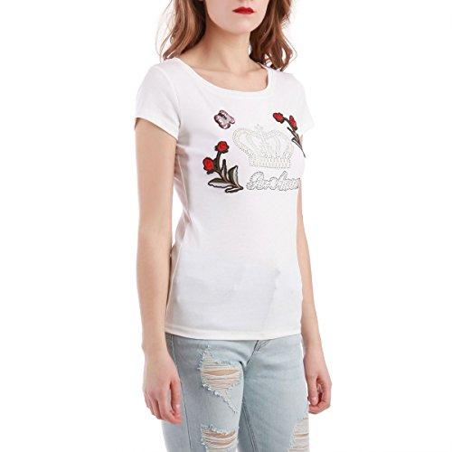 La Modeuse - T-shirt femme basique à manches courtes Blanc