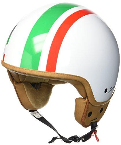 SOXON SP-301 Italy Motorrad-Helm Roller-Helm Jet-Helm Bobber Scooter-Helm Pilot Cruiser Vintage Mofa Chopper Helmet Biker Vespa-Helm Retro, ECE zertifiziert, inkl. Stofftragetasche, Weiß (Italy), L (59-60cm)