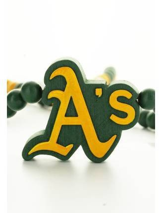 Wood Fellas Herren Accessoires / Kette MLB Oakland Athletics Team grün Einheitsgröße Oakland Athletics Design