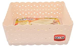 Nayasa Ocean Plastic Basket Set, Set of 3, Light Pink