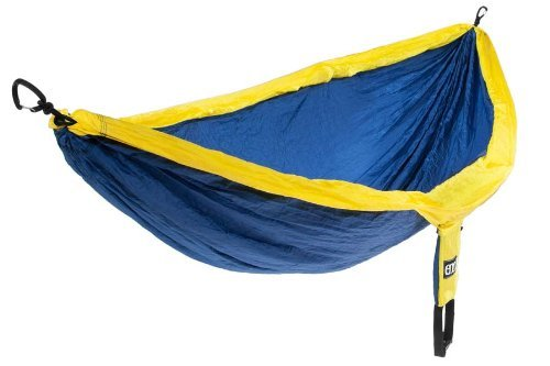 Preisvergleich Produktbild Eagles Nest Outfitters DoubleNest Hammock,  Navy / Yellow CustomerPackageType: Standard Packaging Color: Navy / Yellow