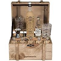 Santamanía Ginebra Premium Artesanal 100% natural. Cofre Roble SANTAMANÍA Gin Reserva - 6500 gr