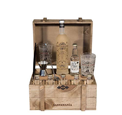Santamanía Ginebra Artesanal Premium 100% natural. Cofre Roble SANTAMANÍA Gin Reserva - 6500 gr