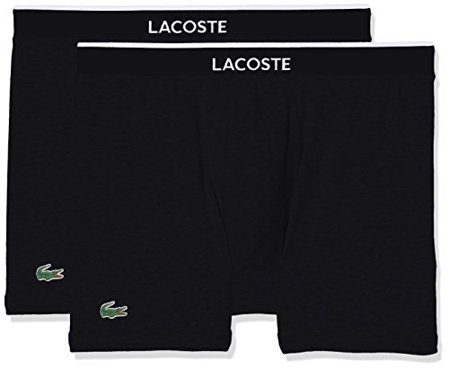 Lacoste Underwear Herren Multipack Boxer Brief (DPK) Boxershorts, (Schwarz 000), Large (per of 2)