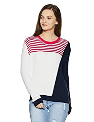 Tommy Hilfiger Womens Cotton Sports Knitwear (A7AJS113_Bright White / Multi_S)