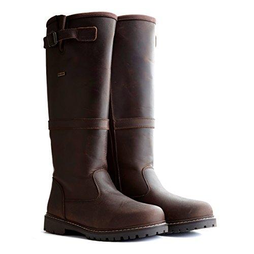 Travelin' Verdal Outdoor Winterstiefel Leder Damen | Wasserdicht & Gefüttert | Für jedes Wetterbedingungen | Braun EU 41