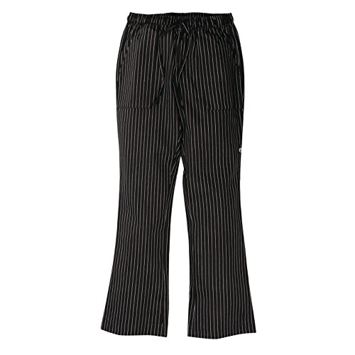 Nextday Catering a940-xl Unisex Easy Fit pantaloni, XL, Bianco e nero a strisce