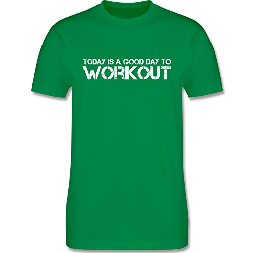 CrossFit & Workout - Today is a good day to workout - Herren Premium T-Shirt Grün