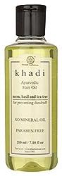 Khadi Neem Teatree and Basil Hair Oil, 210ml