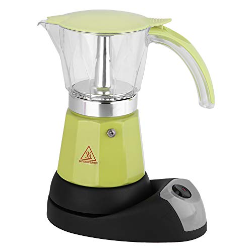 300ml / 6 Tazze 480W Caffettiera Elettrica con Piano Cottura e Coffee Maker (Green)