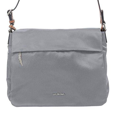 Überschlagtasche von Waipuna aus hochwertigem Nylon mit Schlüsselanhänger, olivgrün Waipuna