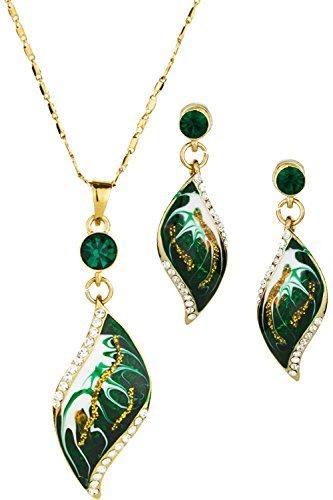 neoglory-conjunto-collar-pendientes-esmalte-verde-oro-14k-enchapado-joya-original-mujer