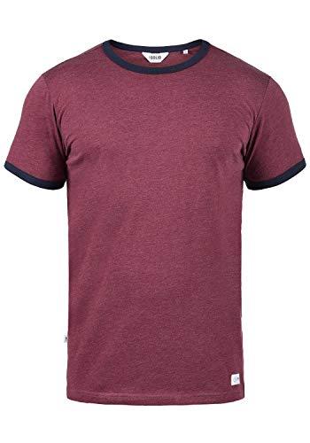 !Solid Manoldo Herren T-Shirt Kurzarm Shirt Mit Rundhalsausschnitt, Größe:M, Farbe:Wine Red Melange (8985) -