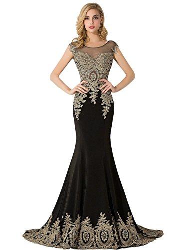 Babyonline Damen Lang Elegant Rückenfrei Abendkleid mit Pailletten 32