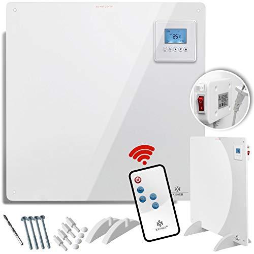 KESSER® Infrarotheizung 425 Watt mit Fernbedienung ✓ LCD-Display Digital ✓ Timer ✓ Wandheizung ✓ Infrarot ✓ Heizung ✓ Heizkörper | Heizpaneel | Inkl.Standfüßen NEU |