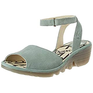 Fly London Women's PATO976FLY Ankle Strap Sandals, (Jade Green 008), 4 (37 EU)